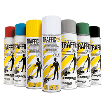 Merkespray til innendørs oppmerking - Traffic 2 Paint (500 ml). Foto.
