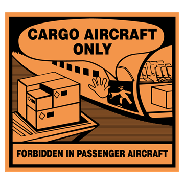 Merke for Cargo Aircraft Only (CAO) - IATA DGR godkjent