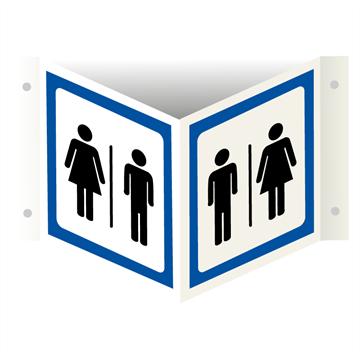 Dame og herre toalett skilt Plogskilt Toalettskilt med piktogram
