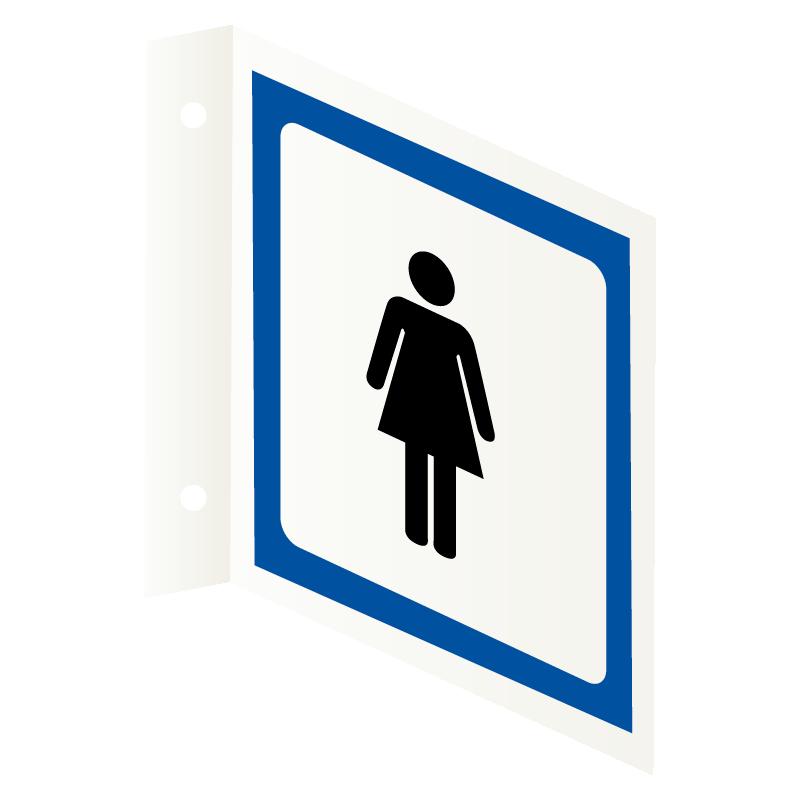 Dame toalett skilt Flaggskilt Toalettskilt med piktogram