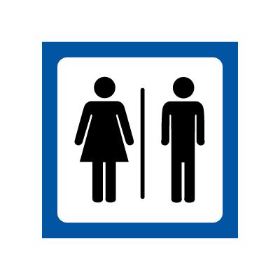 Skilt med piktogram for Damer og Herrer Symbolskilt