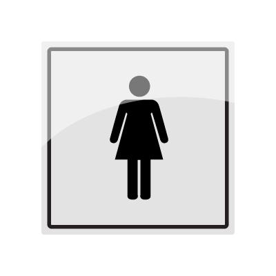 Skilt med piktogram for Damer Rustfritt stål