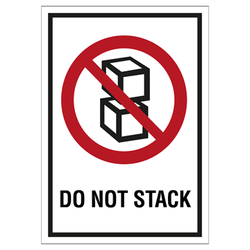 Merke for må ikke stables - Do not stack - Merking av farlig gods