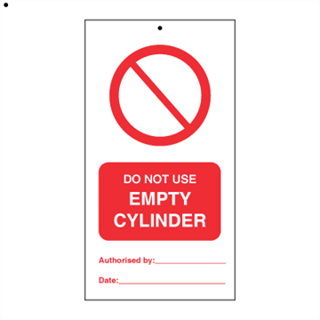 Do not empty cylinder (pk. a' 10 stk.) - IMO Tie Tags. Foto.