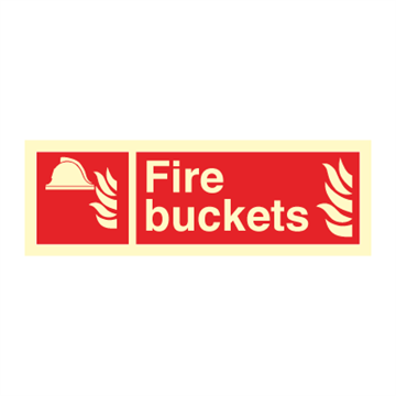 Fire buckets - Fire Signs