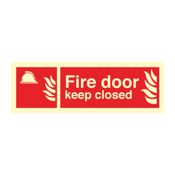 Fire door keep closed - Fire Signs