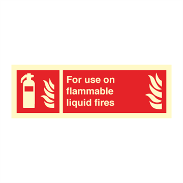 For use on flammable.. - Fire Signs