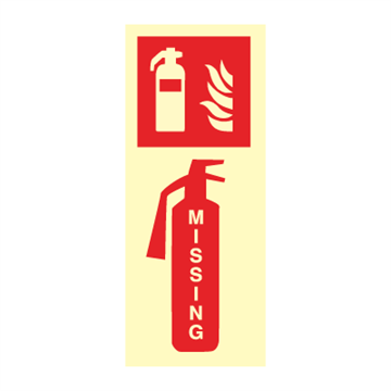 Missing extinguisher - Fire Signs