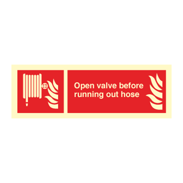 Open valve before runnning... - Fire Signs