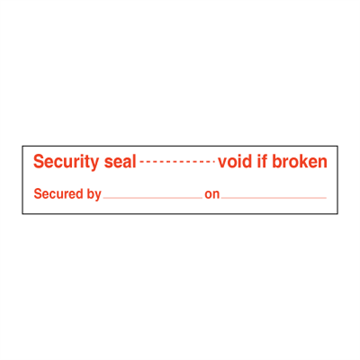 Security seal ------ void if broken
