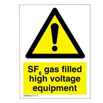 Danger SF6 gas - IMO Hazard and Warning sign