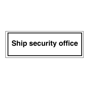 Ship security office - ISPS Code. Foto.