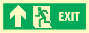 Exit left arrow up - exit sign