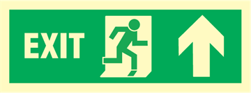 Exit right arrow up - exit sign