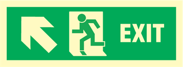 Exit left/up arrow up - exit sign