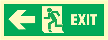Exit left arrow left - exit sign