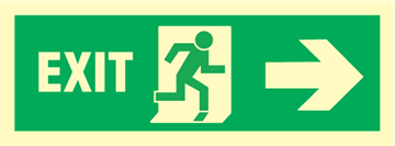 Exit right arrow right - exit sign