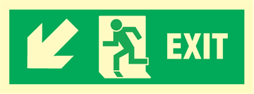 Exit left arrow left/down - exit sign