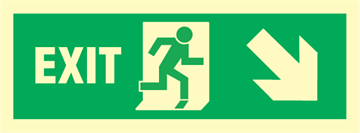 Exit right arrow right/down - exit sign