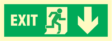 Exit right arrow down - exit sign