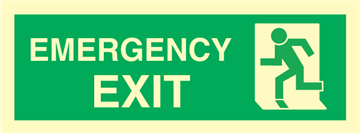 emergency exit left - exit sign