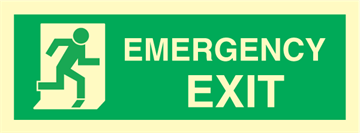 emergency exit right - exit sign