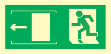 exit left sliding door - exit sign