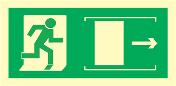 exit right sliding door - exit sign