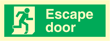 Escape door - exit sign