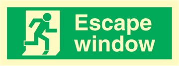 Escape window - exit sign