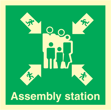 Assembly station - Emergency Signs