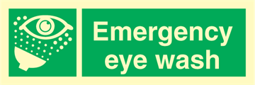 Emergency eye wash - Emergency Signs