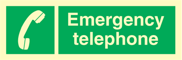 Emergency telephone - Emergency Signs