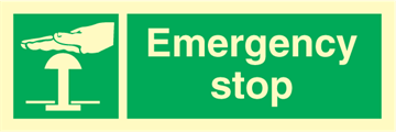 Emergency stop - Emergency Signs