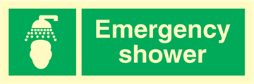 Emergency shower - Emergency Signs