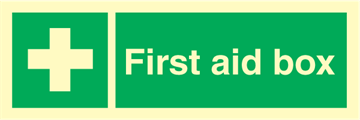 First aid box - Emergency Signs