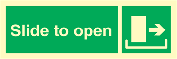 Slide to open right - Emergency Signs