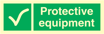 Protective equipment - Emergency Signs