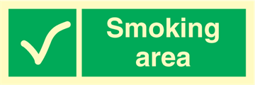 Smoking area - Emergency Signs