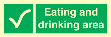 Eating and drinking area - Emergency Signs