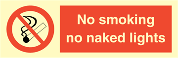 No smoking no naked lights