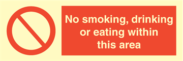 No smoking, drinking or eating