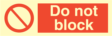 Do not block