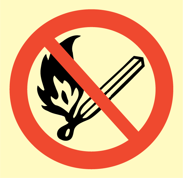 Fire, Naked Flame and Smoking Prohibited   Uniform Safety
