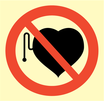 No pacemakers - Prohibition Signs