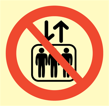 Do not use lift - Prohibition Signs