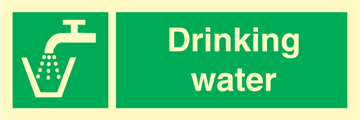 Drinking water - Emergency Signs