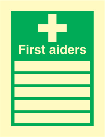 First Aiders - Emergency Signs
