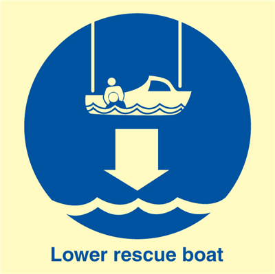 Lower resque boat - IMO Signs