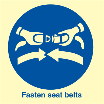 Fasten seat belts - IMO Signs